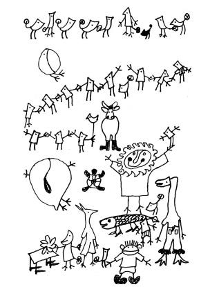 """Оригиналните скици на Йордан Радичков за """"Ние, врабчетата"""""""