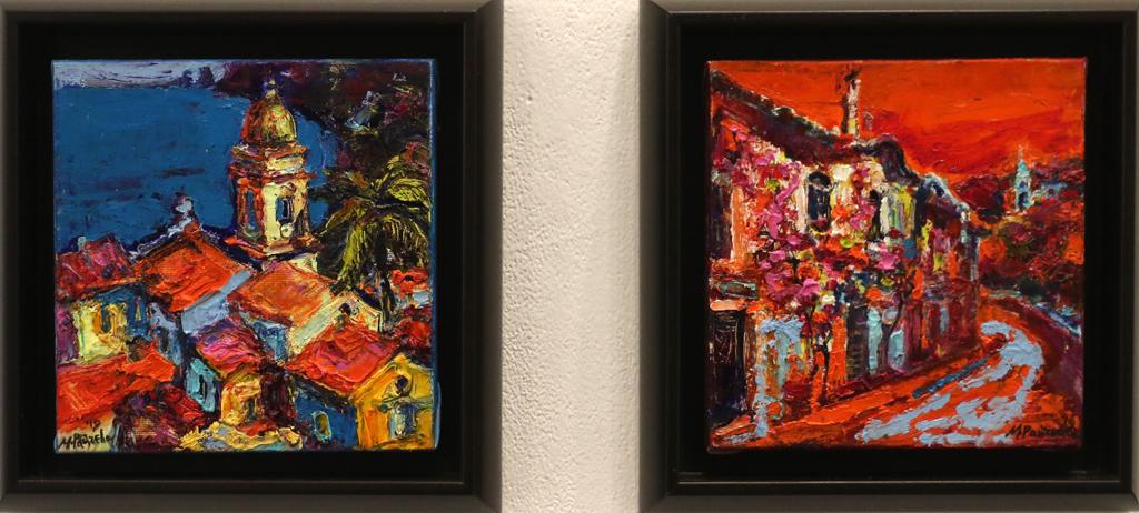 """В настоящата изложба живопис от 9 до 31 май 2019 в галерия АСТРИ ( ул. """"Цар Самуил"""" 34, София), са включени около двадесетина платна е различни формати. По-експресивни, с големи напластявания на боите или по-ефирни, в по-рисунъчна техника, изразните средства са само още един начин за споделяне на преживяното от художника. Още един начин зрителят да усети относителността на времето и пространството. Още един начин да намери близост и се почувства окрилен."""