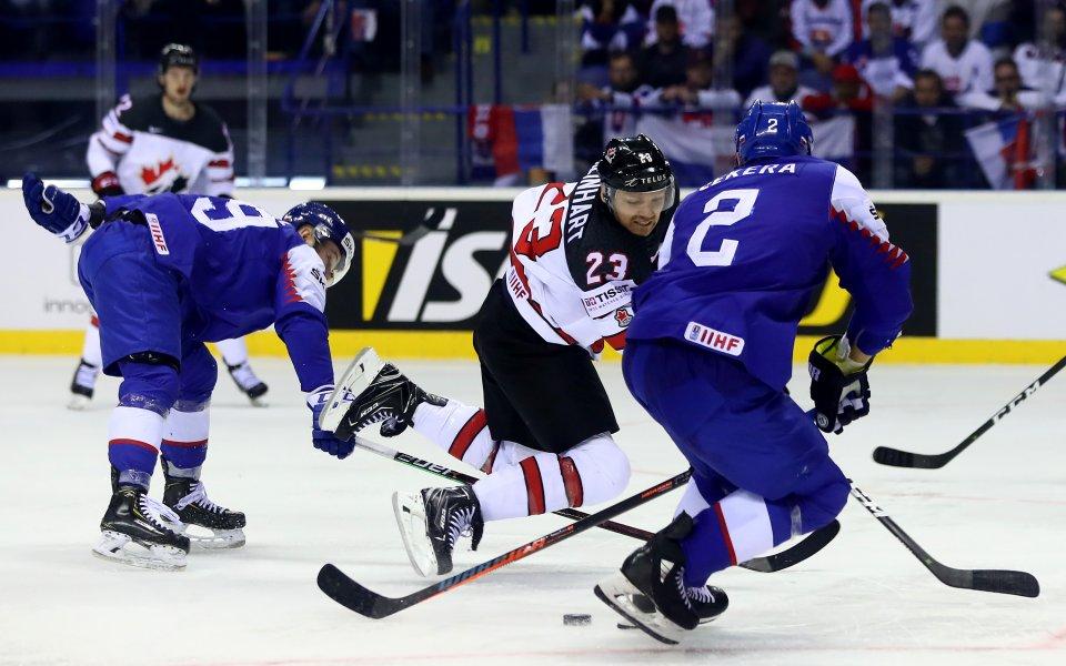 Драма на световното по хокей подлуди словашките фенове
