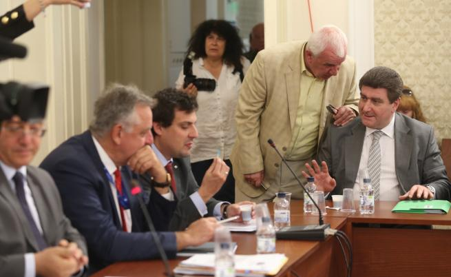 На снимката: Емил Димитров, Андрей Делчев, Валентин Златев