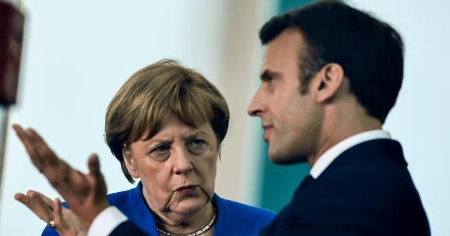 Свят Меркел и Макрон признаха за конфронтация помежду им Макрон