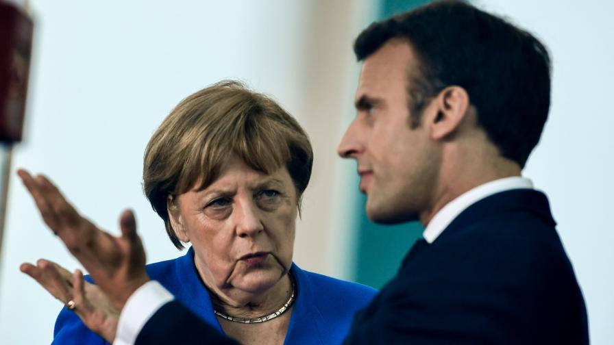 Меркел и Макрон признаха за конфронтация помежду им