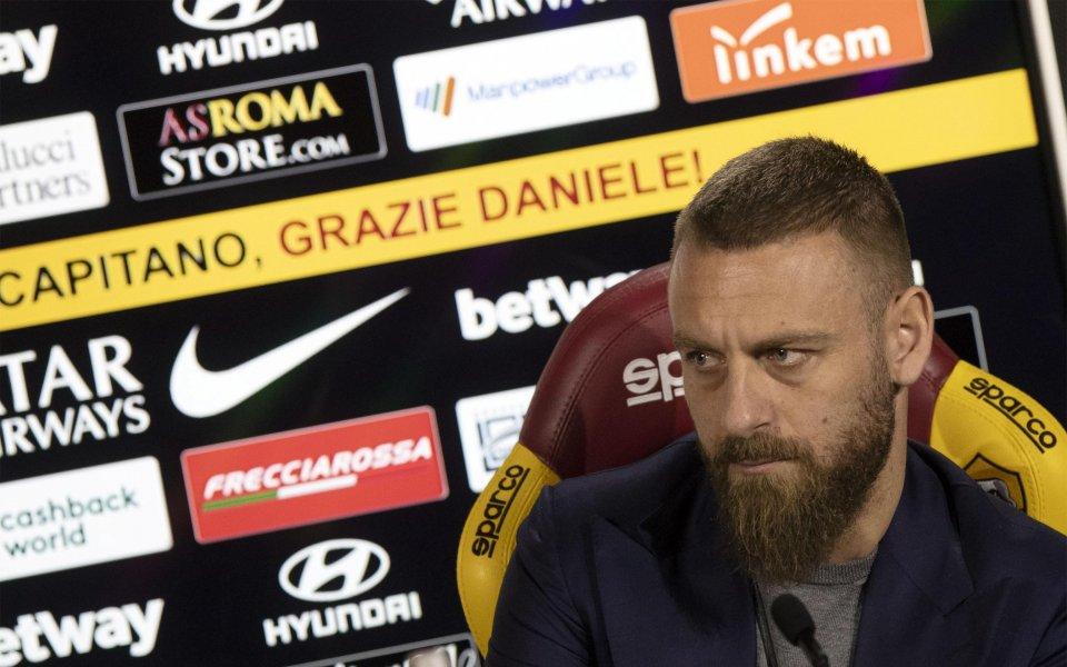Напускащият Рома полузащитник Даниеле Де Роси заяви, че съвсем скоро
