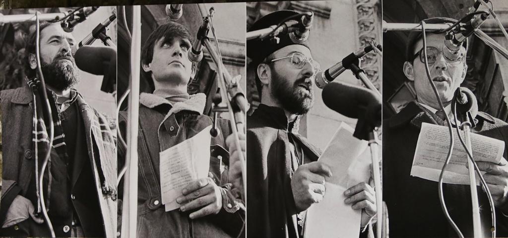 Любомир Собаджиев, Александър Каракачанов, отец Христофор Събев и Румен Воденичаров