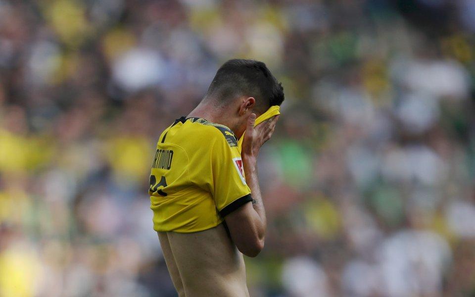 Унион нанесе удар по шампионските амбиции на Борусия Дортмунд