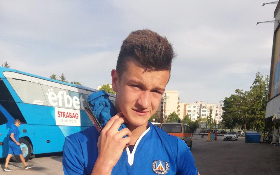 Юношата на Левски Патрик - Габриел Галчев ще премине едноседмичен