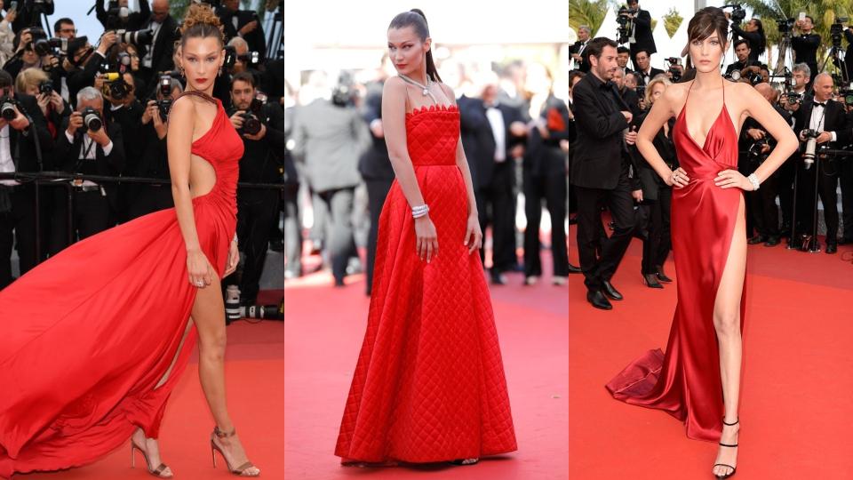 Бела Хадид - кралицата на фаталната червена рокля