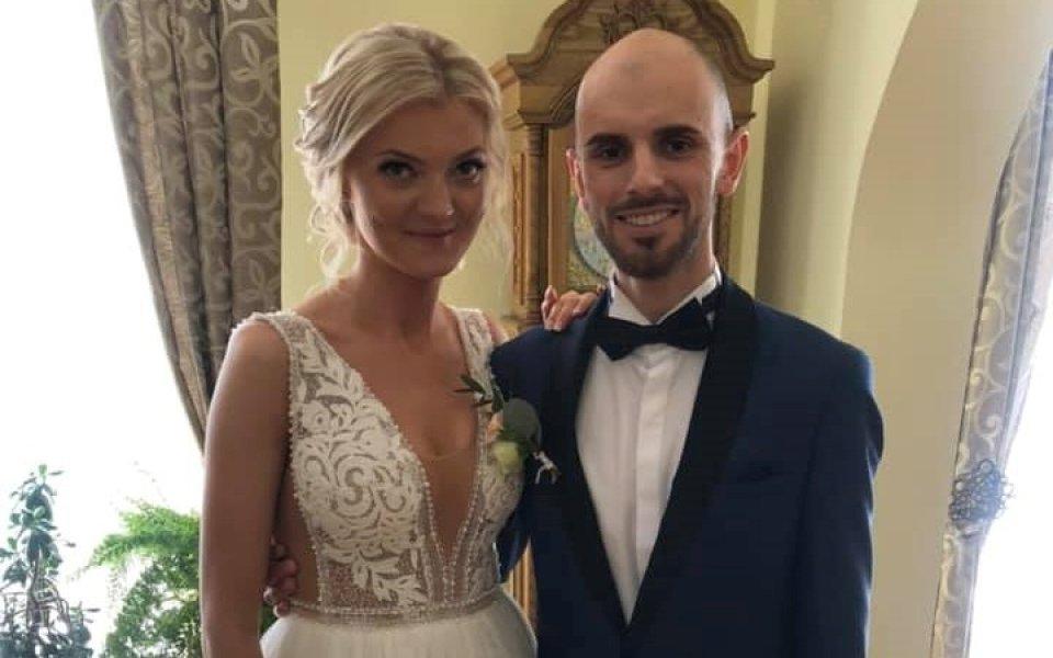 Най-добрият български ски скачач Владимир Зографски се ожени за дългогодишната