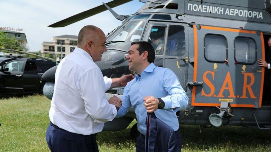 <p>Борисов към Ципрас: И тунели ще правим заедно&nbsp;(видео)</p>