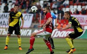 НА ЖИВО: ЦСКА атакува безспир, но Ботев се брани успешно