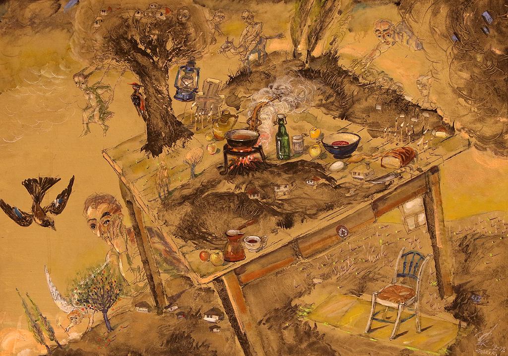 """Цветан Колев """"Корени"""" Бих нарекла изложбата на Цветан Колев в Галерия """"Контраст"""" среща с корените. За него те са зарити в недрата на Троянския Балкан."""