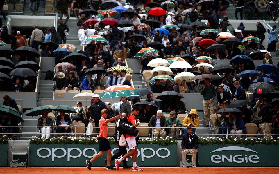 Джокович и Тийм бяха надвити от дъжда