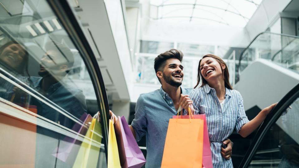 двойка жена пазар мол чанта