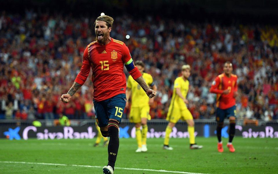 Испания взе дербито с Швеция