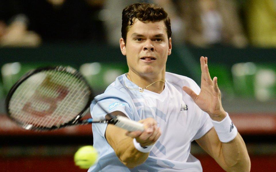 Милош Раонич се класира за втория кръг на тенис турнира