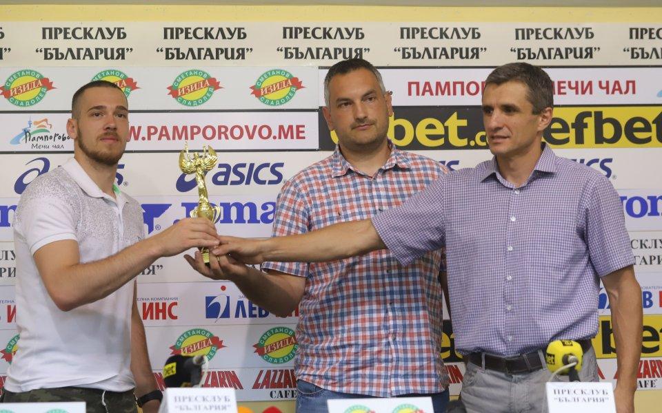 """Шампионът на България баскетбол Балкан бе награден за """"Отбор на"""