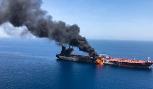 """Танкерът """"Фронт Алтаир"""", който беше един от атакуваните в Оманския залив"""