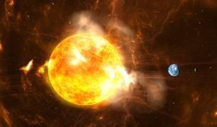 <p>Суперизригване на Слънцето заплашва Земята</p>