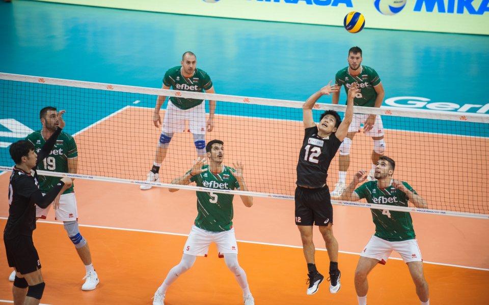 Националният тим на България по волейбол отстъпи с 2:3 гейма