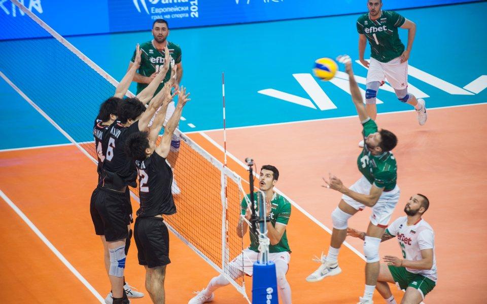 Българският национален отбор по волейбол допусна поражение от Япония с