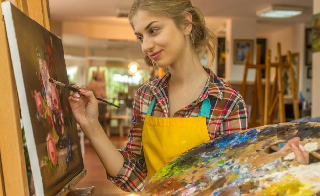 Ученици рисуват с боб, киноа и сусам за спасяването на планетата