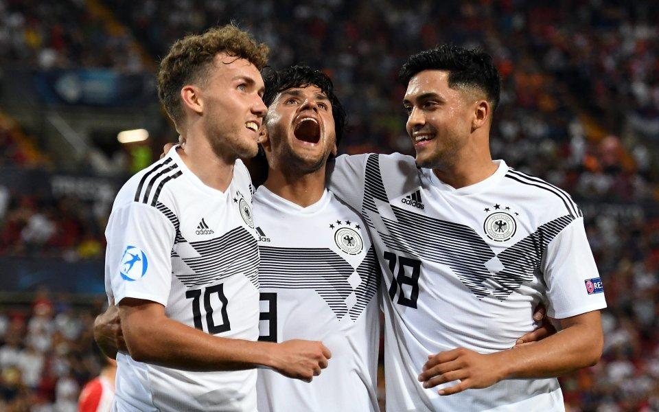 Младежкият национален отбор на Германия отново оправда ролята си на