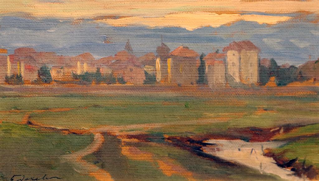Борис Денев (1883 – 1969) Изглед към София, ок. 1915