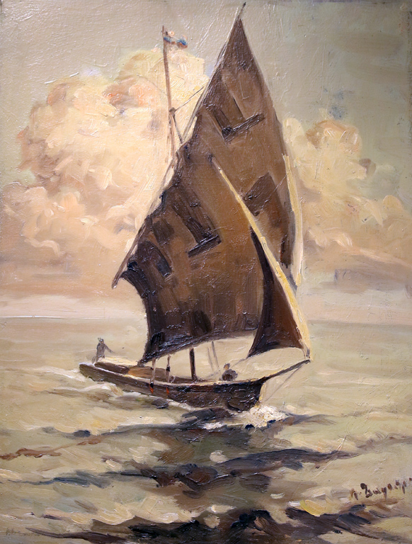 Петко Задгорски (1902 – 1974) Платноходка, 40-те г. на ХХ в.