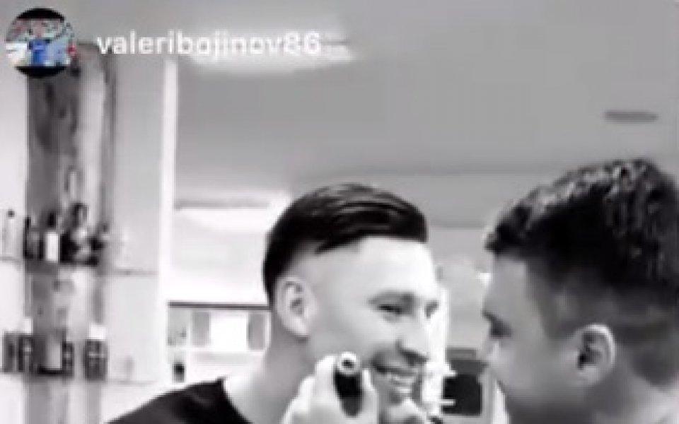 Снимка: Божинов стана бръснар, след като се раздели с Биляна Дол