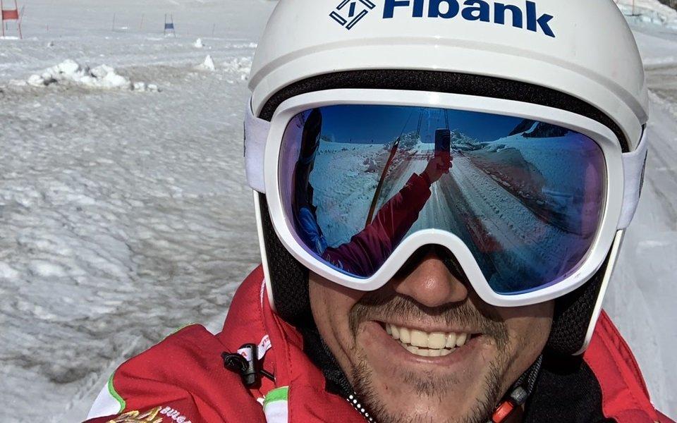 Алберт Попов с първи лагер на сняг