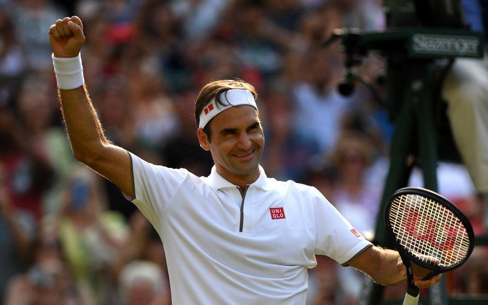 Федерер изкова победа №100 на Уимбълдън и е на полуфинал