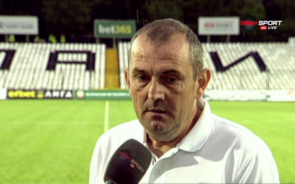 Старши треньорът на Славия Златомир Загорчич бе доволен единствено от