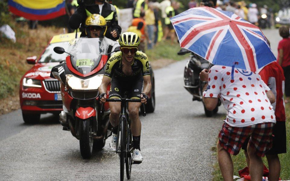 """Британецът Саймън Йейтс от тима на """"Мичълтън-Скот"""" спечели 15-ия етап"""
