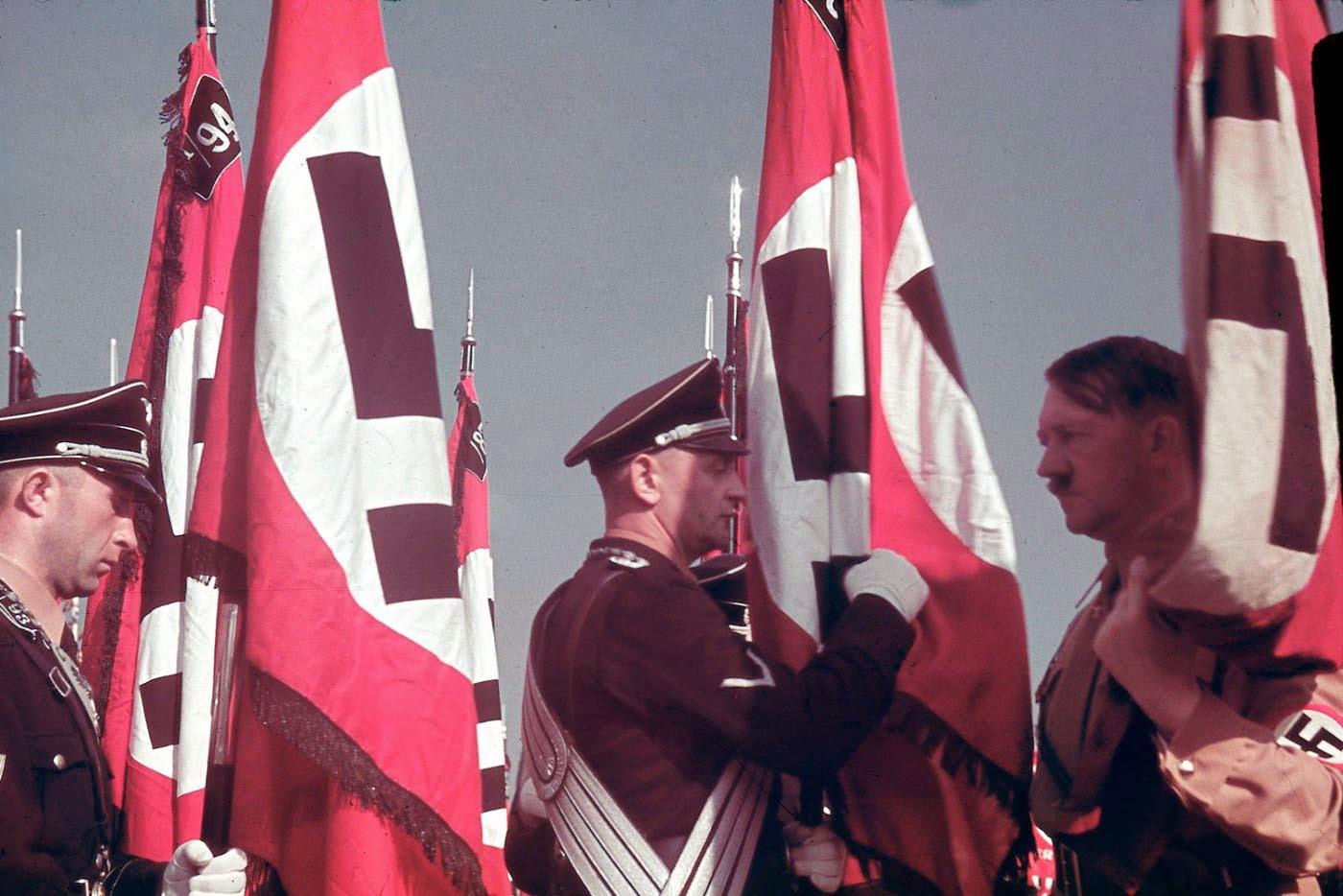 <p>1938: Конгрес на партията на Райха в Нюремберг, Бавария.</p>