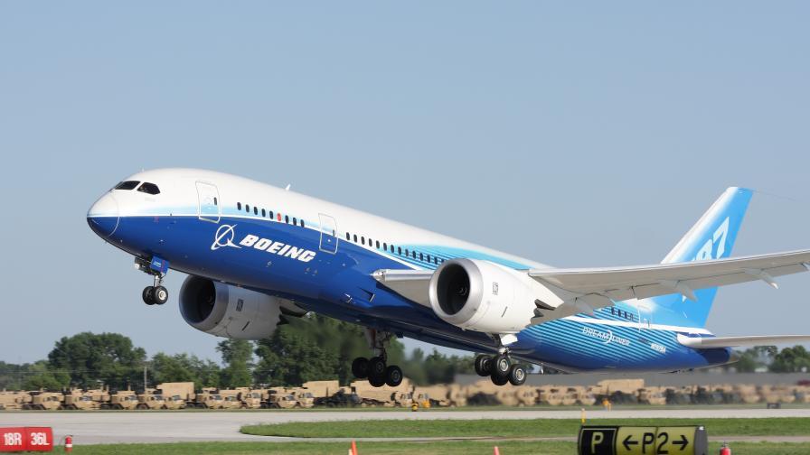 На снимката: Боинг 787