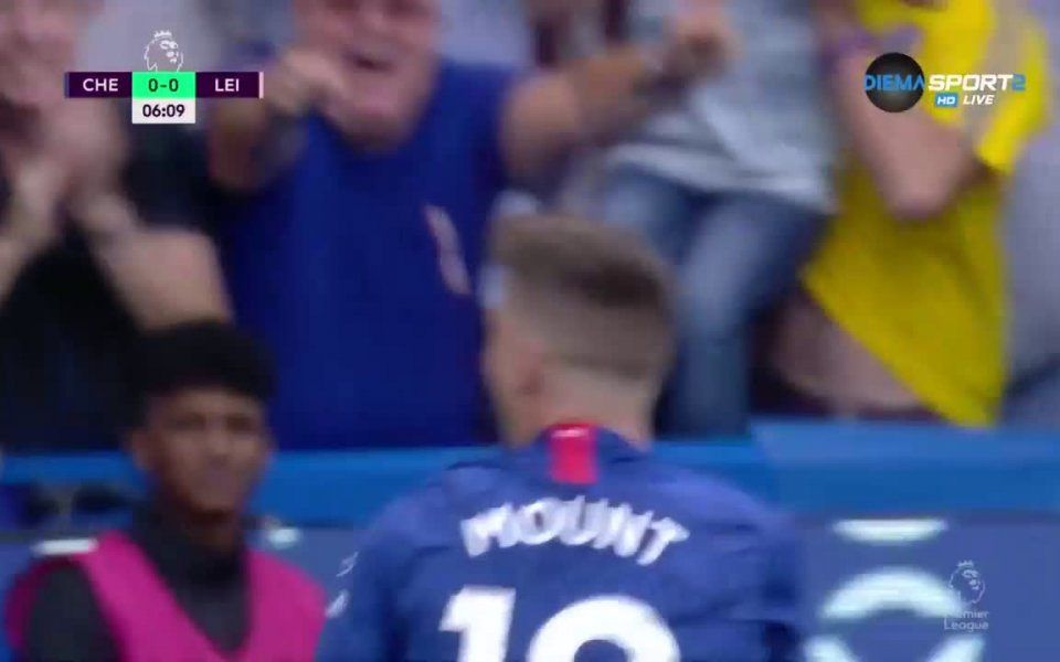 Челси и Лестър изиграха страхотна първа част на мача помежду