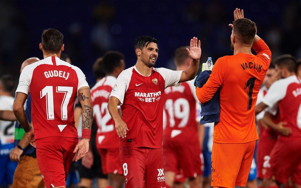 С късни голове в двете полувремена Севиля спечели срещу Еспаньол