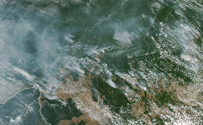 Бразилските тропически гори горят с рекордна скорост