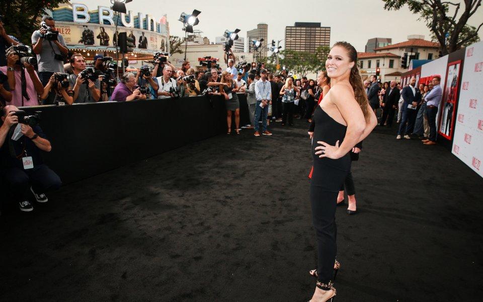 Звездата на Световната федерация по кеч Ронда Роузи е получила