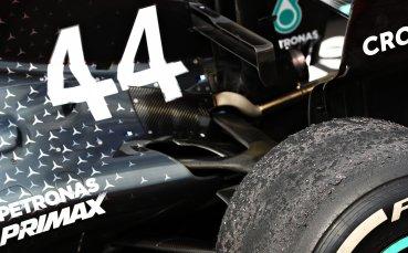 Формула 1 показа в действие прототип на болида за 2021-а