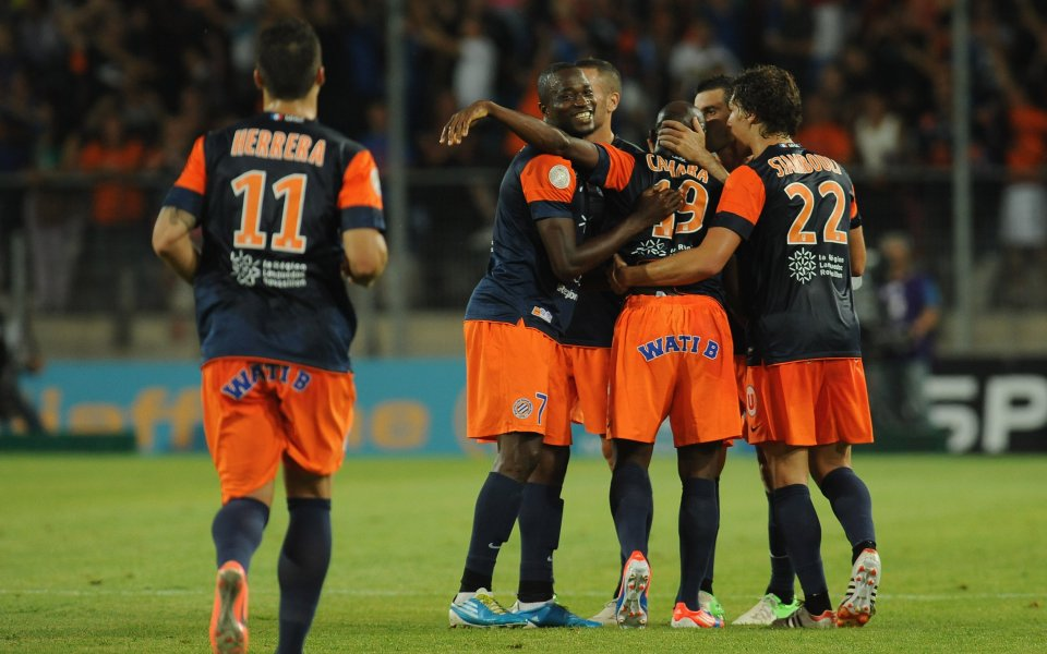 Голов трилър прати Монпелие на второ място в Лига 1