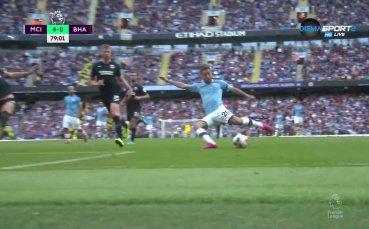 Бернардо Силва с гол секунди, след като се появи на терена