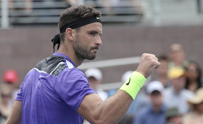 За първи път Григор Димитров на четвъртфинал в САЩ