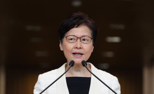 Лидерът на Хонконг с пресконференция след изтекъл запис