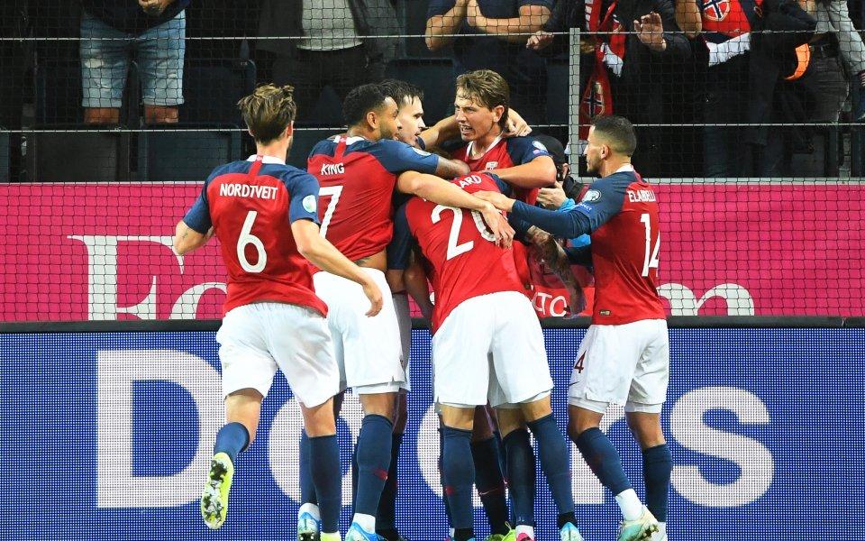 Норвегия остана в борбата за второто място след 1:1 в Стокхолм