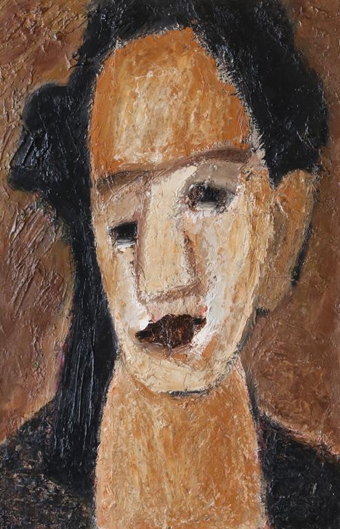 <p>Портрет на жена в жълто. &quot;Тази работа е за музей и не само този портрет. Лицата са много интересни.&quot; - Светлин Русев</p>
