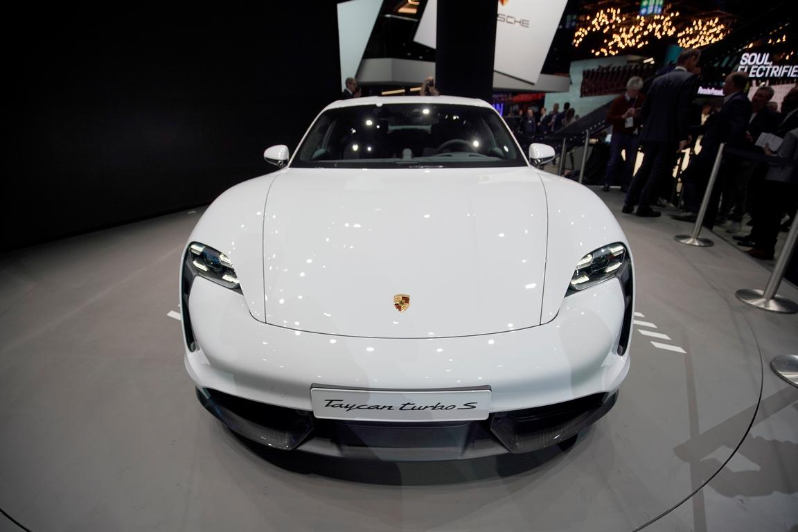 <p>Porsche Taycan turbo S electric</p>