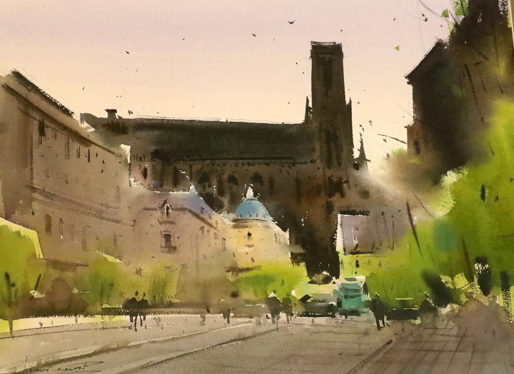 <p>&quot;Катедралата в Реймс&quot; от Евгений Кисничан, Молдова</p>  <p>Изложбата може да бъде видяна от 11 до 29 септември в Галерия Нюанс на ул. Иван Денкоглу 42, София</p>