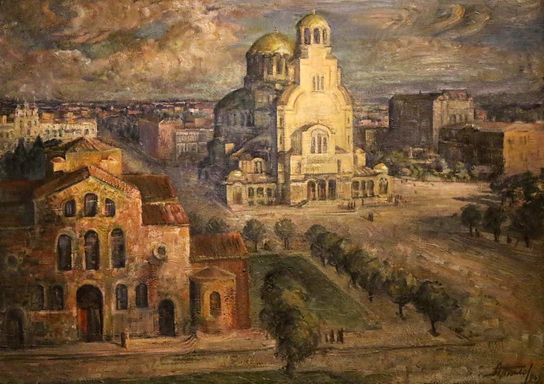 <p>Ангел Тилов - Площад &quot;Александър Невски&quot;, 1943г.</p>