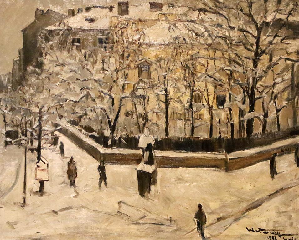 <p>Никола Танев - Зима в София, 1956г.</p>